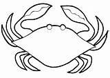 Crab Coloring Pages Colouring Printable Pot Template sketch template
