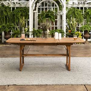 Manor, Park, Wood, Outdoor, Patio, Extendable, Dining, Table, Brown, -, Walmart, Com