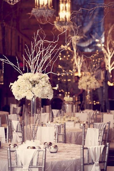 picture  winter wedding table decor ideas