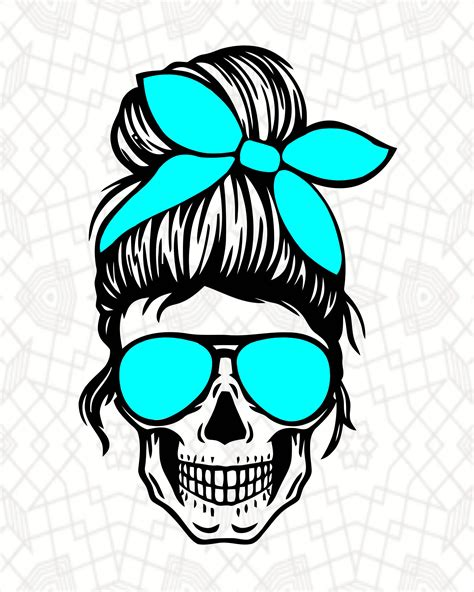 Are you looking for a free messy bun svg file? Layered Mom Skull Svg Messy Bun Skull Svg Momlife SVG | Etsy