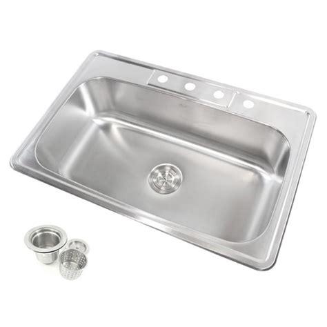 best gauge for stainless steel sink 33 inch 18 gauge stainless steel top mount drop in single