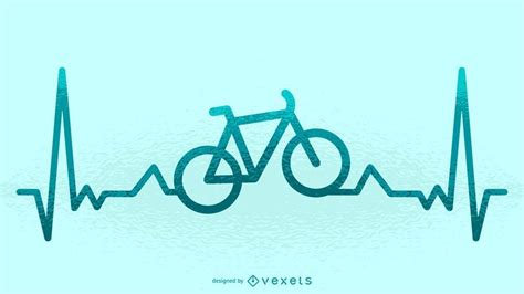 bike heartbeat illustration ad ad ad illustration