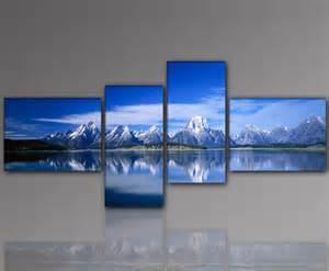 designer wandbilder designbilder wandbild berge gipfel gebirge schnee wohnzimmer kunst 155x60cm ebay