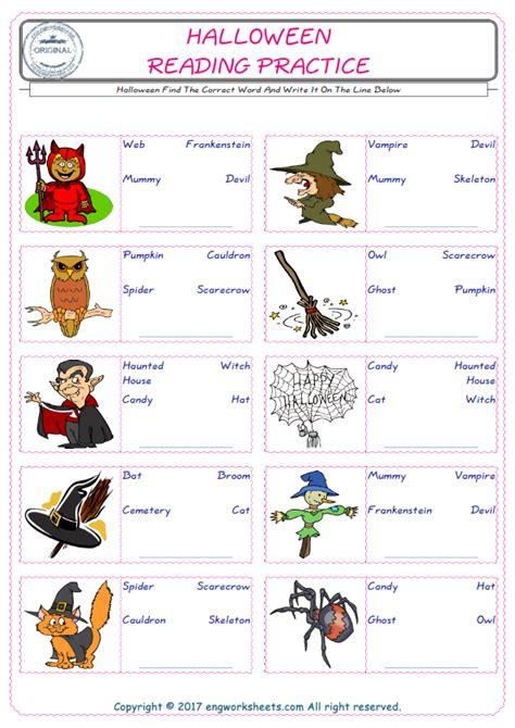 halloween esl printable english vocabulary worksheets