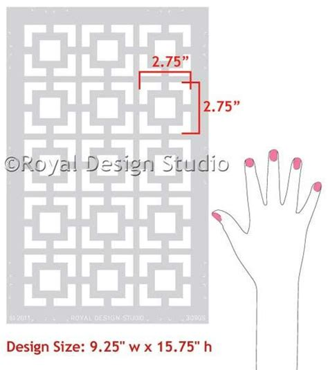 funky kitchen cabinets modern geometric wall stencils squares 1122