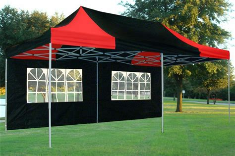 black  red pop  tent canopy gazebo