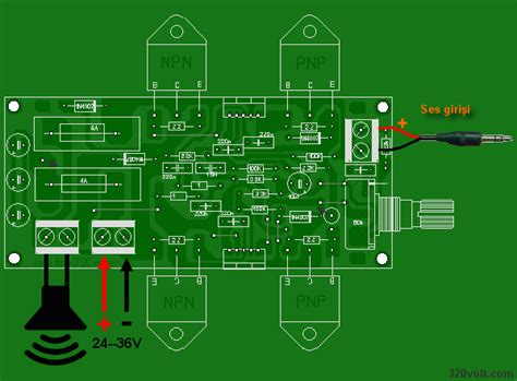 amplifier circuit tda  pcb electronics