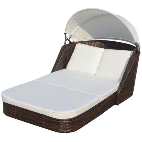 la chaise longue boutique en ligne la boutique en ligne vidaxl chaise longue avec baldaquin en rotin synthétique marron vidaxl fr