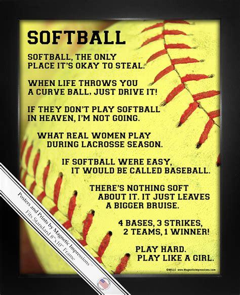 foto de Softball Player Sayings 8x10 Sport Poster Print