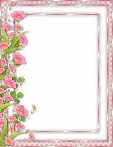 Pink Transparent PNG Frame with Flowers | Borders ...
