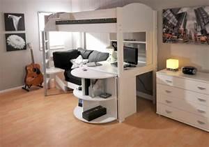 Coole Jugendzimmer Mit Hochbett : kinder hochbett mit schreibtisch und lagerschr nken ausgestattet ~ Bigdaddyawards.com Haus und Dekorationen