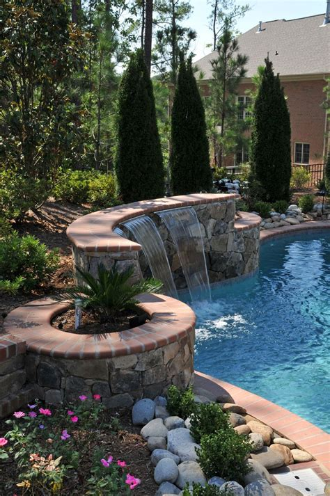 Backyard Built by This Pool Is Built Into A Hill To Maximize Privacy From