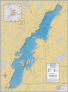 Lake Chetac Wall Map