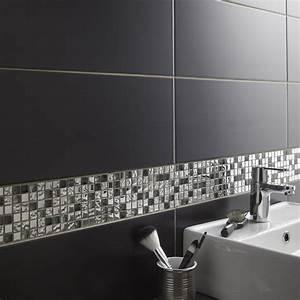mosaique mur ice tendance gris leroy merlin With carrelage adhesif salle de bain avec voile d ombrage led