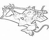 Coloring Splinter Kick Buttowski Template sketch template