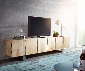 Lowboard Holz : lowboard live edge 220 cm akazie gebleicht massiv 6 t ren ~ Pilothousefishingboats.com Haus und Dekorationen