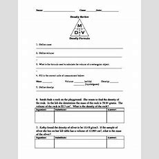 Density Review Worksheet By Ms Science Spot  Teachers Pay Teachers