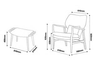 Lounge Chair Size by Replica Arne Vodder Lounge Chair