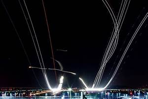Long exposure air traffic culture scribe for Long exposure air traffic