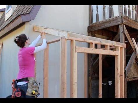 building  lean  shed framing  siding wilker dos