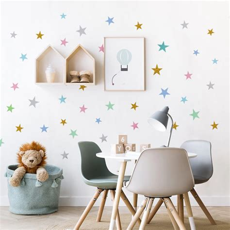 If you've started decorating your nursery, you've already realized how much you have to consider. Cute Little Stars Wall Decals For Nordic Style Baby's Room Decor - NordicWallArt.com