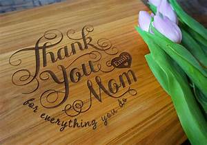 Personalized Mother's Day Cutting Board Thank You Mom