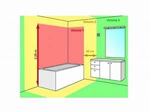 norme distance prise electrique salle de bain With normes electriques salle de bain