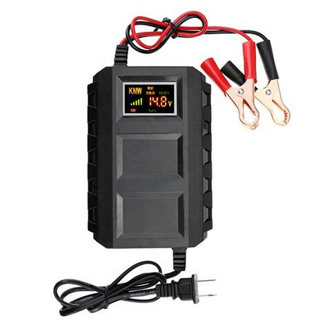 20a 12v smart fast battery charger led display for car