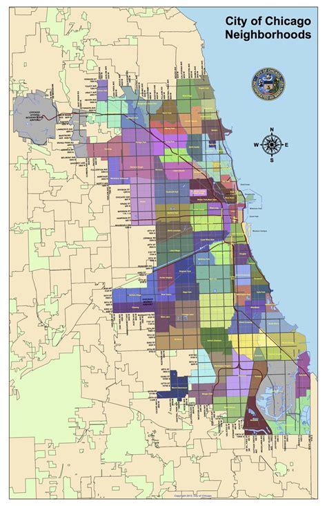 Chicago City Map Neighborhoods