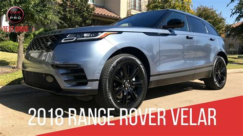 range rover velar  dynamic test drive youtube