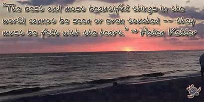 Helen Keller Inspirational Quote Quotes Touched Cannot