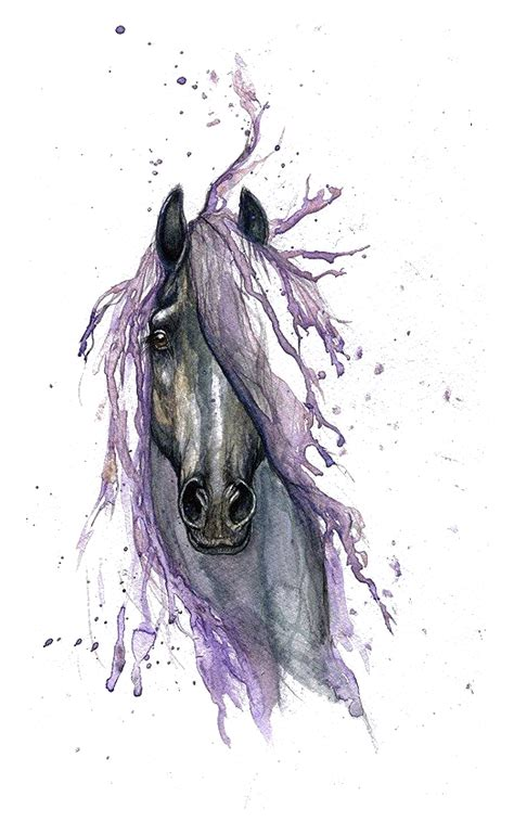 watercolor tattoo horse painting drawing hq image