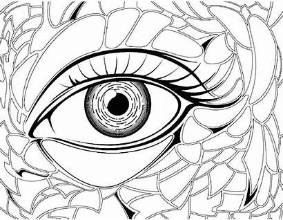 Coloring Pages Eye Preschool Anime Eyes Eyeball