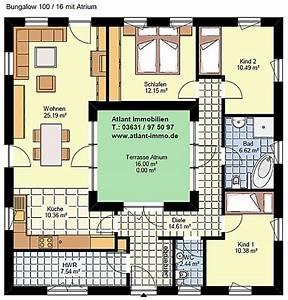 Atrium Bungalow Grundrisse : atriumbungalow quadrat 100 16 einfamilienhaus neubau massivbau stein auf stein ~ Bigdaddyawards.com Haus und Dekorationen