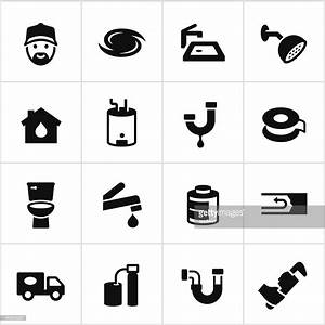 Black Plumbing Icons Vector Art   Getty Images