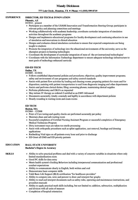 Tech Resume by Ed Tech Resume Sles Velvet