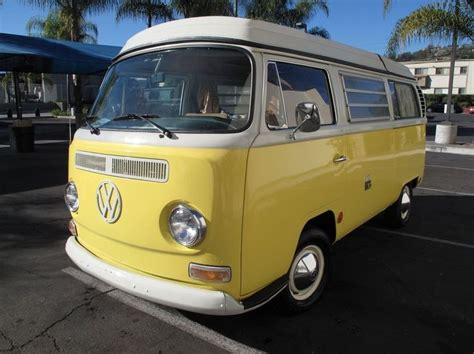 yellow white fully restored  vw camper vans