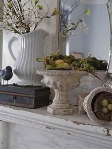 Shabby White Mantel Decor Fireplace Mantel Design And