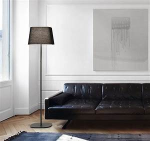 contemporary floor lamps for your modern style at house With interior decorating ideas black leather sofa