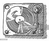 Record Player Drawing Getdrawings sketch template