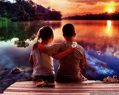 Romantic Romance Wallpapers Children Crazy Couple Lake
