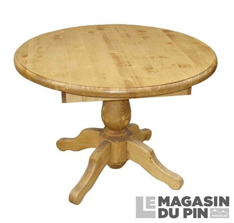 fonds de cuisine table repas ronde 1 allonge pin massif transilvania le