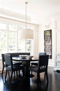 blue dining chairs transitional dining room