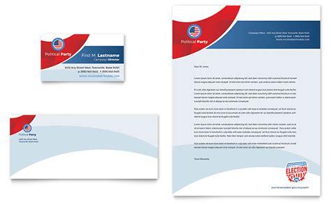 election business card letterhead template design