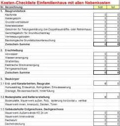 Baukosten Checkliste Für Neubau Einfamilienhaus In