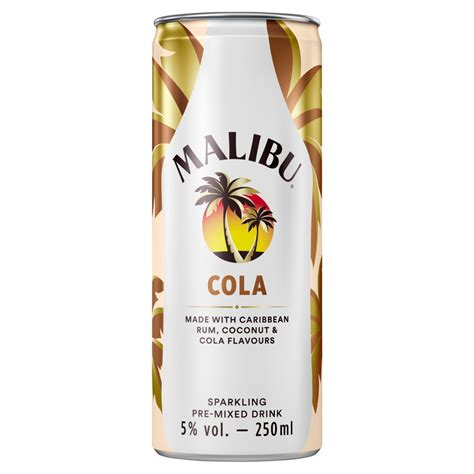Stir this together until it's well combined. Malibu Cola Sparkling Pre-Mixed Drink 250ml | Bestway ...