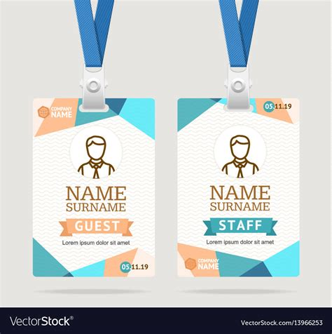 id card template letter adress