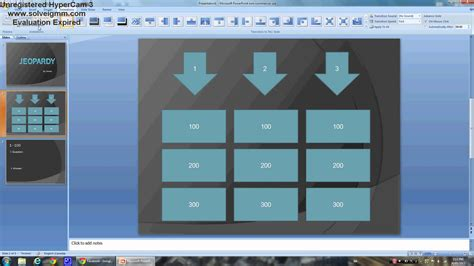 power point   create  easy jeopardy game youtube