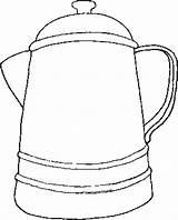 Pot Coloring Coffee Cowboy Farwest Sketchite Coloringbookfun Bookmark Permalink sketch template