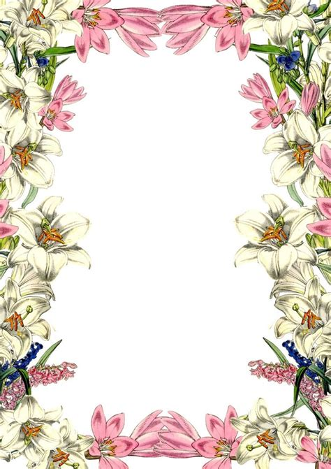 vintag flower border clipartioncom